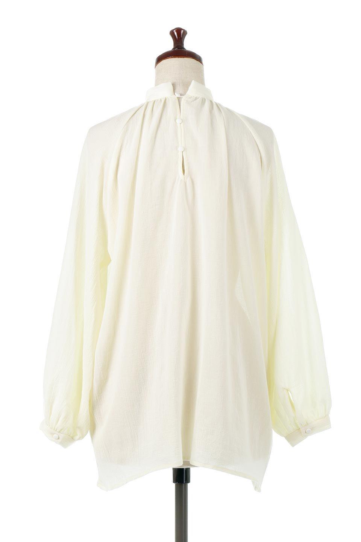 GatheredneckSheerBlouseギャザーネック・長袖シアーブラウス大人カジュアルに最適な海外ファッションのothers(その他インポートアイテム)のトップスやシャツ・ブラウス。今季大人気の透け感のあるシアー素材を使用した長袖ブラウス。ゆったり目のシルエットはそのまま着ても、ブラウジングしても楽しめます。/main-14