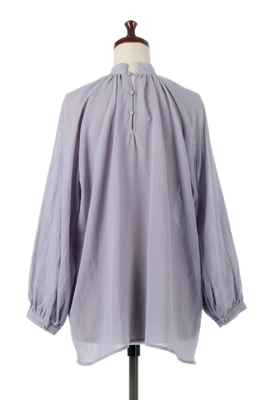 GatheredneckSheerBlouseギャザーネック・長袖シアーブラウス大人カジュアルに最適な海外ファッションのothers(その他インポートアイテム)のトップスやシャツ・ブラウス。今季大人気の透け感のあるシアー素材を使用した長袖ブラウス。ゆったり目のシルエットはそのまま着ても、ブラウジングしても楽しめます。/main-19