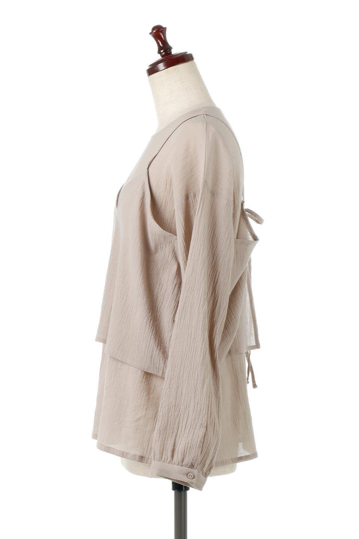 TexturedSheerCami&Blouseテクスチャード・シアーキャミブラウスセット大人カジュアルに最適な海外ファッションのothers(その他インポートアイテム)のトップスやシャツ・ブラウス。若干透け感のある長袖ブラウスと、共生地のキャミソールセット。さらりとした素材感の生地は透け感があり、これからの季節にピッタリのアイテム。/main-2