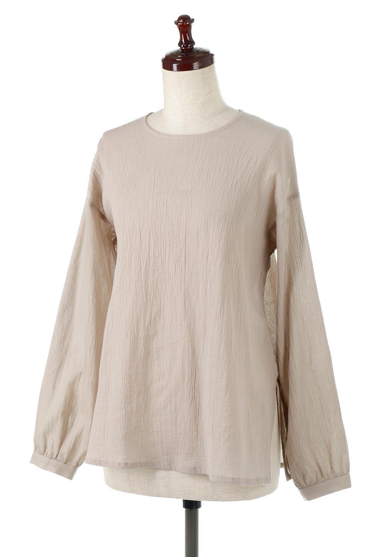 TexturedSheerCami&Blouseテクスチャード・シアーキャミブラウスセット大人カジュアルに最適な海外ファッションのothers(その他インポートアイテム)のトップスやシャツ・ブラウス。若干透け感のある長袖ブラウスと、共生地のキャミソールセット。さらりとした素材感の生地は透け感があり、これからの季節にピッタリのアイテム。/main-21