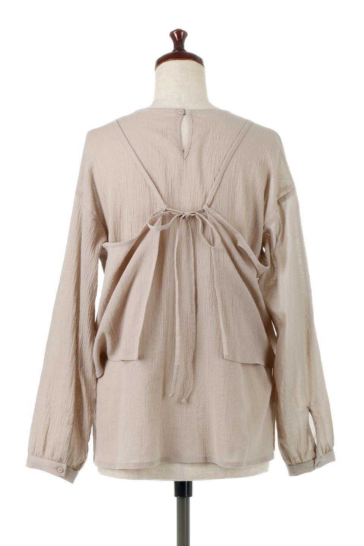 TexturedSheerCami&Blouseテクスチャード・シアーキャミブラウスセット大人カジュアルに最適な海外ファッションのothers(その他インポートアイテム)のトップスやシャツ・ブラウス。若干透け感のある長袖ブラウスと、共生地のキャミソールセット。さらりとした素材感の生地は透け感があり、これからの季節にピッタリのアイテム。/main-4