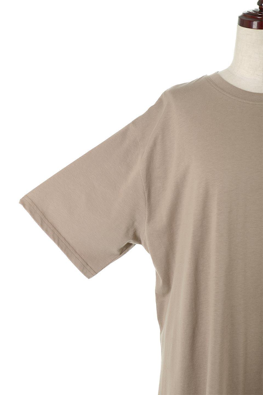 DeepSideSlitDressサイドスリット・コットンワンピース大人カジュアルに最適な海外ファッションのothers(その他インポートアイテム)のワンピースやマキシワンピース。キレイ目でもカジュアルでも楽しめるコットン素材のワンピトップス。肉厚なTシャツ素材で様々なコーディネートで活躍します。/main-18