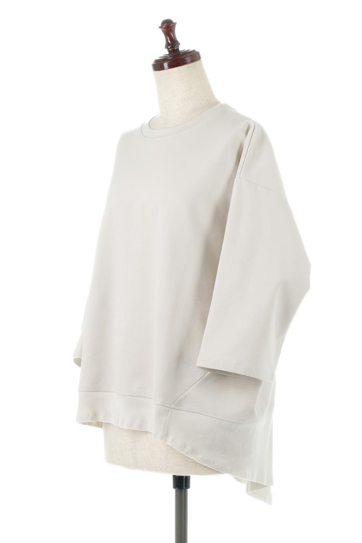 PanelCutAsymmetricalBigT-Shirtsアシメントリー・切り替えビッグTee大人カジュアルに最適な海外ファッションのothers(その他インポートアイテム)のトップスやカットソー。左右非対称なカッティングデザインがポイントのTシャツ。メンズサイズのようなオーバーシルエットが可愛いヘビーウェイトのカットソー。/main-1
