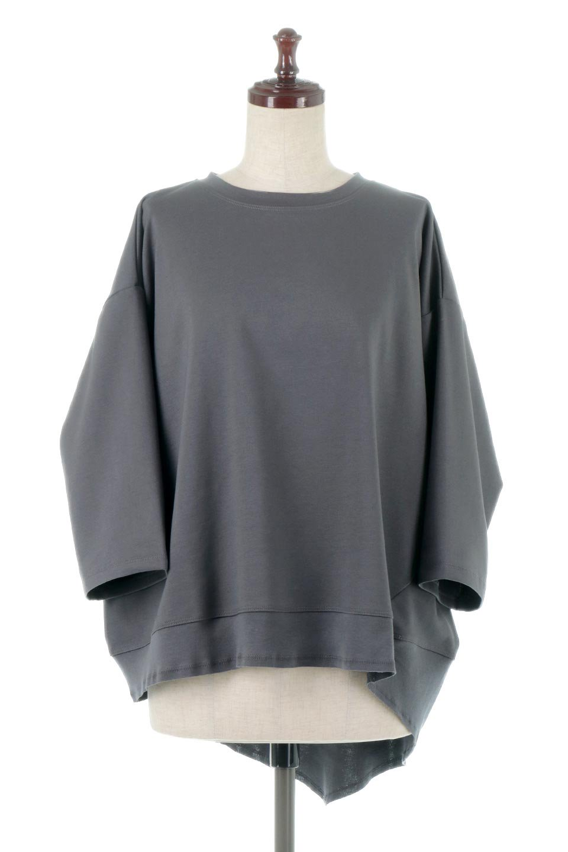 PanelCutAsymmetricalBigT-Shirtsアシメントリー・切り替えビッグTee大人カジュアルに最適な海外ファッションのothers(その他インポートアイテム)のトップスやカットソー。左右非対称なカッティングデザインがポイントのTシャツ。メンズサイズのようなオーバーシルエットが可愛いヘビーウェイトのカットソー。/main-10