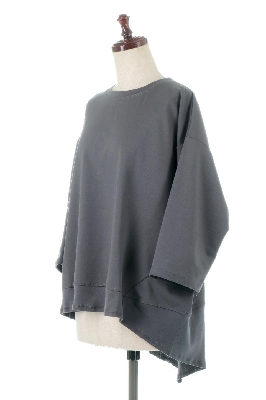 PanelCutAsymmetricalBigT-Shirtsアシメントリー・切り替えビッグTee大人カジュアルに最適な海外ファッションのothers(その他インポートアイテム)のトップスやカットソー。左右非対称なカッティングデザインがポイントのTシャツ。メンズサイズのようなオーバーシルエットが可愛いヘビーウェイトのカットソー。/main-11
