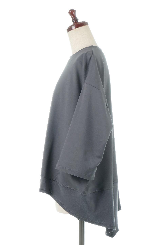 PanelCutAsymmetricalBigT-Shirtsアシメントリー・切り替えビッグTee大人カジュアルに最適な海外ファッションのothers(その他インポートアイテム)のトップスやカットソー。左右非対称なカッティングデザインがポイントのTシャツ。メンズサイズのようなオーバーシルエットが可愛いヘビーウェイトのカットソー。/main-12