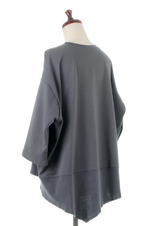 PanelCutAsymmetricalBigT-Shirtsアシメントリー・切り替えビッグTee大人カジュアルに最適な海外ファッションのothers(その他インポートアイテム)のトップスやカットソー。左右非対称なカッティングデザインがポイントのTシャツ。メンズサイズのようなオーバーシルエットが可愛いヘビーウェイトのカットソー。/main-13