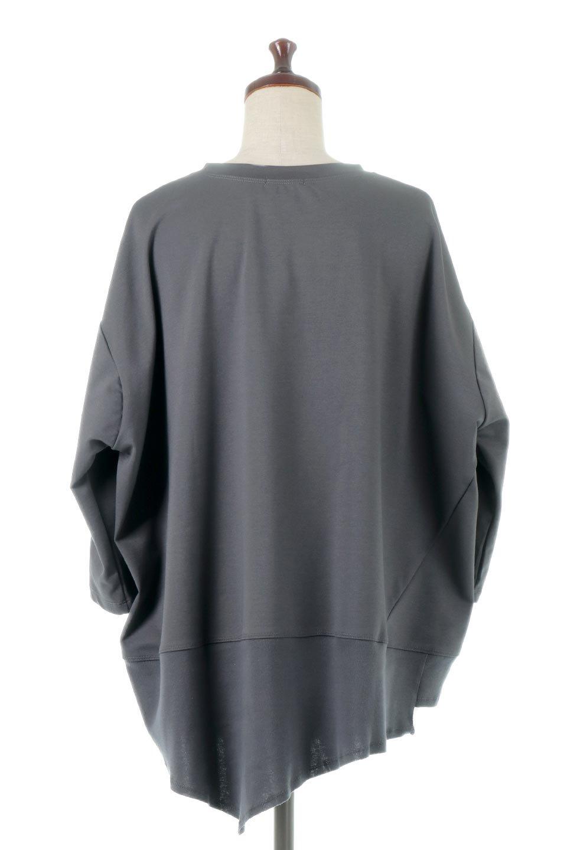 PanelCutAsymmetricalBigT-Shirtsアシメントリー・切り替えビッグTee大人カジュアルに最適な海外ファッションのothers(その他インポートアイテム)のトップスやカットソー。左右非対称なカッティングデザインがポイントのTシャツ。メンズサイズのようなオーバーシルエットが可愛いヘビーウェイトのカットソー。/main-14