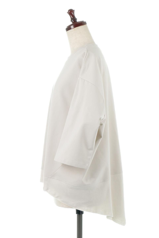 PanelCutAsymmetricalBigT-Shirtsアシメントリー・切り替えビッグTee大人カジュアルに最適な海外ファッションのothers(その他インポートアイテム)のトップスやカットソー。左右非対称なカッティングデザインがポイントのTシャツ。メンズサイズのようなオーバーシルエットが可愛いヘビーウェイトのカットソー。/main-2