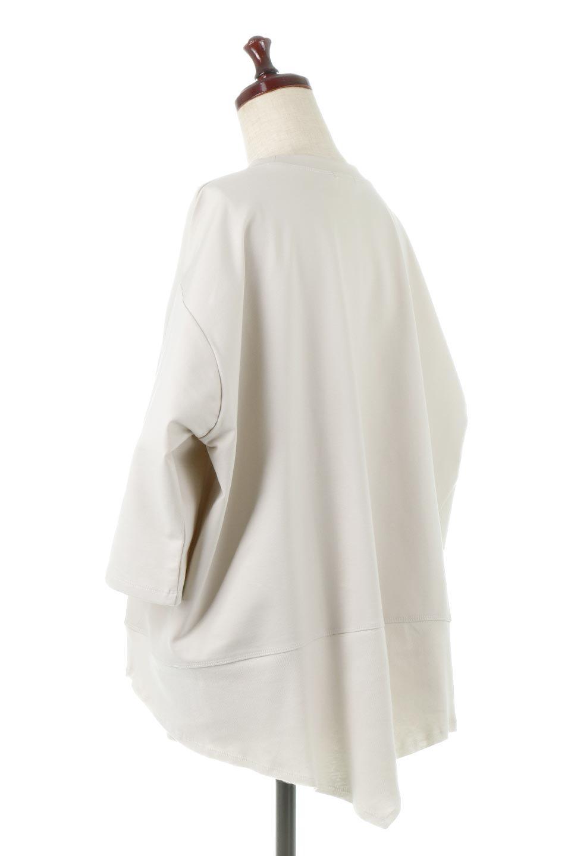 PanelCutAsymmetricalBigT-Shirtsアシメントリー・切り替えビッグTee大人カジュアルに最適な海外ファッションのothers(その他インポートアイテム)のトップスやカットソー。左右非対称なカッティングデザインがポイントのTシャツ。メンズサイズのようなオーバーシルエットが可愛いヘビーウェイトのカットソー。/main-3