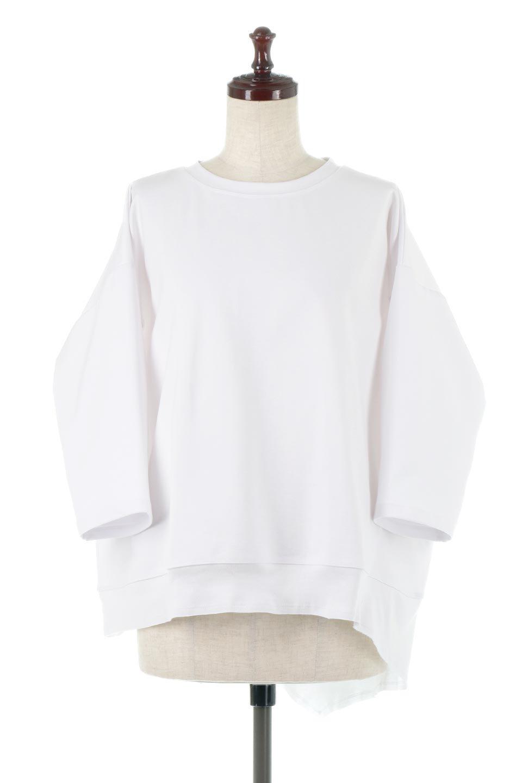 PanelCutAsymmetricalBigT-Shirtsアシメントリー・切り替えビッグTee大人カジュアルに最適な海外ファッションのothers(その他インポートアイテム)のトップスやカットソー。左右非対称なカッティングデザインがポイントのTシャツ。メンズサイズのようなオーバーシルエットが可愛いヘビーウェイトのカットソー。/main-5