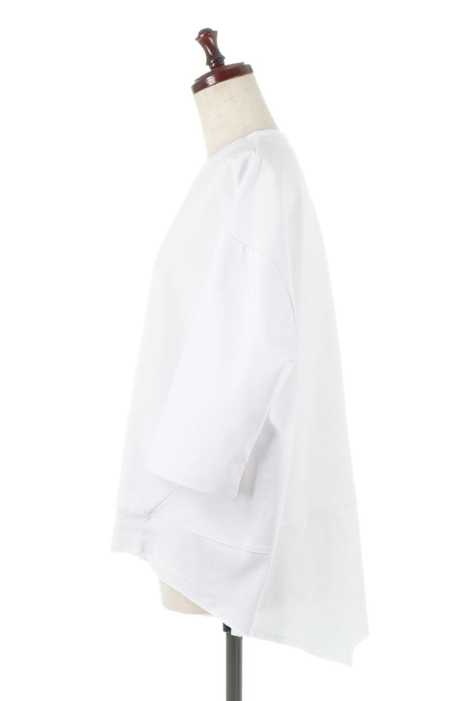 PanelCutAsymmetricalBigT-Shirtsアシメントリー・切り替えビッグTee大人カジュアルに最適な海外ファッションのothers(その他インポートアイテム)のトップスやカットソー。左右非対称なカッティングデザインがポイントのTシャツ。メンズサイズのようなオーバーシルエットが可愛いヘビーウェイトのカットソー。/main-7
