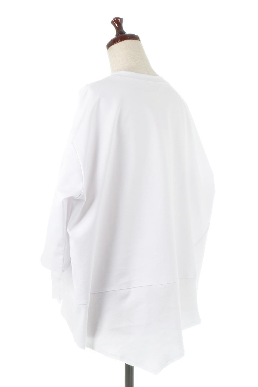 PanelCutAsymmetricalBigT-Shirtsアシメントリー・切り替えビッグTee大人カジュアルに最適な海外ファッションのothers(その他インポートアイテム)のトップスやカットソー。左右非対称なカッティングデザインがポイントのTシャツ。メンズサイズのようなオーバーシルエットが可愛いヘビーウェイトのカットソー。/main-8