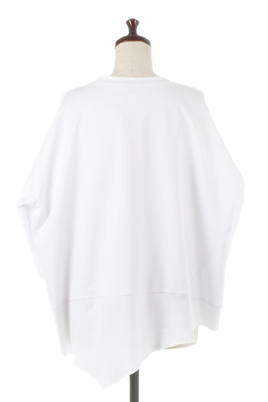 PanelCutAsymmetricalBigT-Shirtsアシメントリー・切り替えビッグTee大人カジュアルに最適な海外ファッションのothers(その他インポートアイテム)のトップスやカットソー。左右非対称なカッティングデザインがポイントのTシャツ。メンズサイズのようなオーバーシルエットが可愛いヘビーウェイトのカットソー。/main-9
