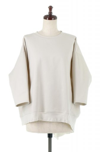 Panel Cut Asymmetrical Big T-Shirts アシメントリー・切り替えビッグTee / 大人カジュアルに最適な海外ファッションが得意な福島市のセレクトショップbloom