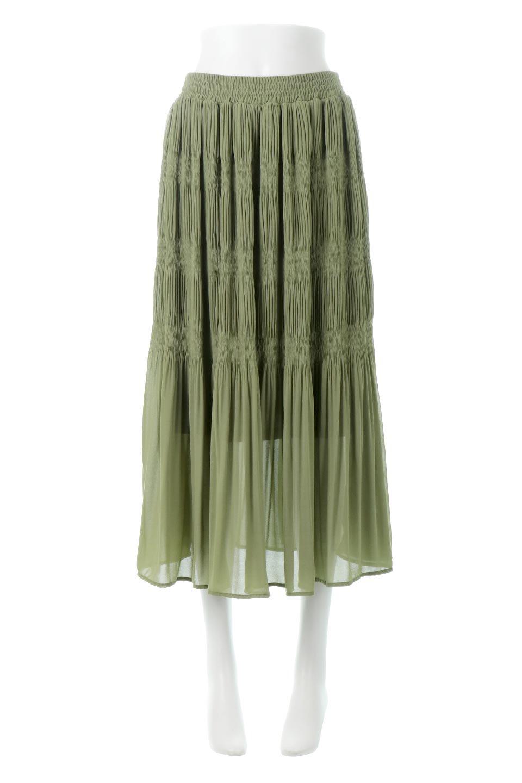 MajolicaPleatedLongSkirtマジョリカプリーツ・ロングスカート大人カジュアルに最適な海外ファッションのothers(その他インポートアイテム)のボトムやスカート。表情豊かなマジョリカプリーツが春の雰囲気満点のロングスカート。シフォンジョーゼットのソフトな生地でフワリとした優しさが人気です。