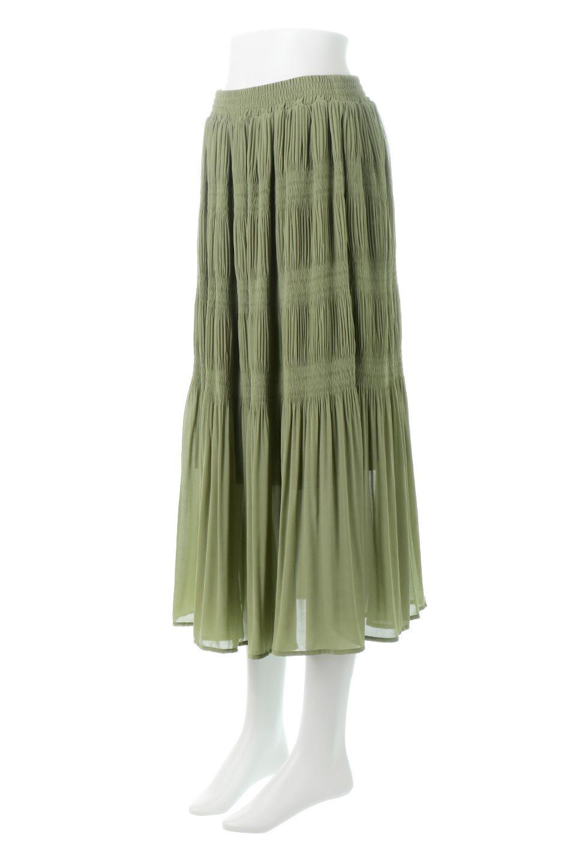 MajolicaPleatedLongSkirtマジョリカプリーツ・ロングスカート大人カジュアルに最適な海外ファッションのothers(その他インポートアイテム)のボトムやスカート。表情豊かなマジョリカプリーツが春の雰囲気満点のロングスカート。シフォンジョーゼットのソフトな生地でフワリとした優しさが人気です。/main-1