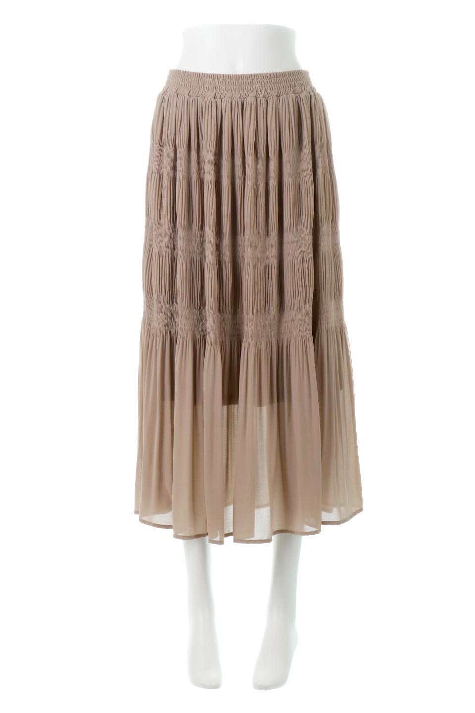 MajolicaPleatedLongSkirtマジョリカプリーツ・ロングスカート大人カジュアルに最適な海外ファッションのothers(その他インポートアイテム)のボトムやスカート。表情豊かなマジョリカプリーツが春の雰囲気満点のロングスカート。シフォンジョーゼットのソフトな生地でフワリとした優しさが人気です。/main-10