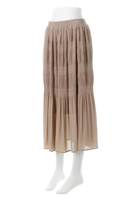 MajolicaPleatedLongSkirtマジョリカプリーツ・ロングスカート大人カジュアルに最適な海外ファッションのothers(その他インポートアイテム)のボトムやスカート。表情豊かなマジョリカプリーツが春の雰囲気満点のロングスカート。シフォンジョーゼットのソフトな生地でフワリとした優しさが人気です。/main-11