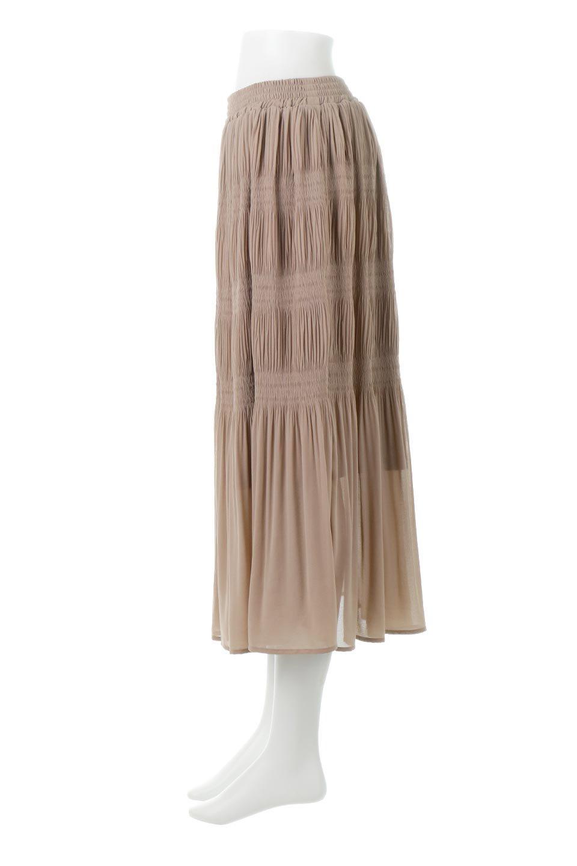 MajolicaPleatedLongSkirtマジョリカプリーツ・ロングスカート大人カジュアルに最適な海外ファッションのothers(その他インポートアイテム)のボトムやスカート。表情豊かなマジョリカプリーツが春の雰囲気満点のロングスカート。シフォンジョーゼットのソフトな生地でフワリとした優しさが人気です。/main-12