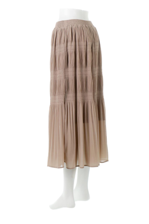 MajolicaPleatedLongSkirtマジョリカプリーツ・ロングスカート大人カジュアルに最適な海外ファッションのothers(その他インポートアイテム)のボトムやスカート。表情豊かなマジョリカプリーツが春の雰囲気満点のロングスカート。シフォンジョーゼットのソフトな生地でフワリとした優しさが人気です。/main-13