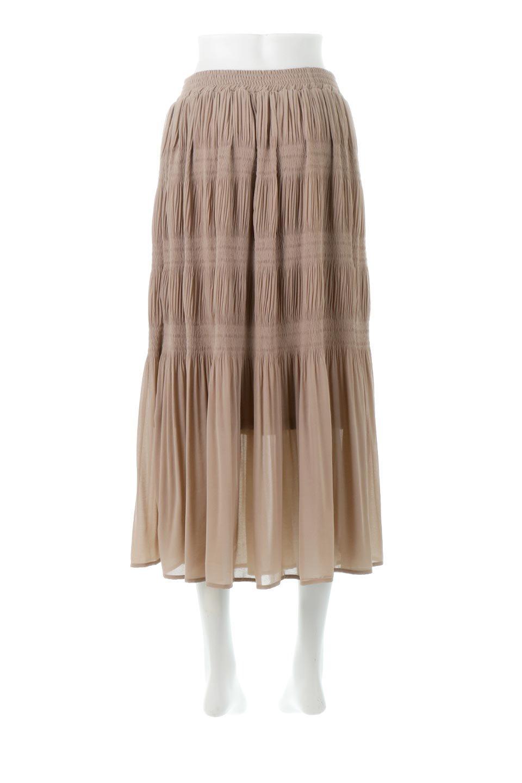MajolicaPleatedLongSkirtマジョリカプリーツ・ロングスカート大人カジュアルに最適な海外ファッションのothers(その他インポートアイテム)のボトムやスカート。表情豊かなマジョリカプリーツが春の雰囲気満点のロングスカート。シフォンジョーゼットのソフトな生地でフワリとした優しさが人気です。/main-14