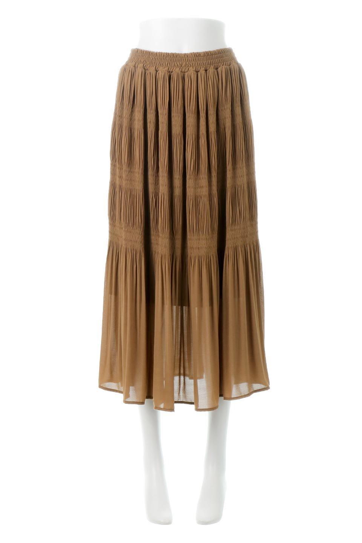MajolicaPleatedLongSkirtマジョリカプリーツ・ロングスカート大人カジュアルに最適な海外ファッションのothers(その他インポートアイテム)のボトムやスカート。表情豊かなマジョリカプリーツが春の雰囲気満点のロングスカート。シフォンジョーゼットのソフトな生地でフワリとした優しさが人気です。/main-15