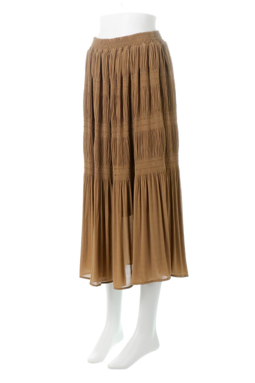 MajolicaPleatedLongSkirtマジョリカプリーツ・ロングスカート大人カジュアルに最適な海外ファッションのothers(その他インポートアイテム)のボトムやスカート。表情豊かなマジョリカプリーツが春の雰囲気満点のロングスカート。シフォンジョーゼットのソフトな生地でフワリとした優しさが人気です。/main-16