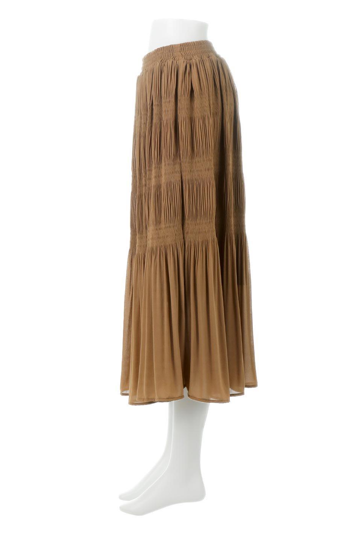 MajolicaPleatedLongSkirtマジョリカプリーツ・ロングスカート大人カジュアルに最適な海外ファッションのothers(その他インポートアイテム)のボトムやスカート。表情豊かなマジョリカプリーツが春の雰囲気満点のロングスカート。シフォンジョーゼットのソフトな生地でフワリとした優しさが人気です。/main-17