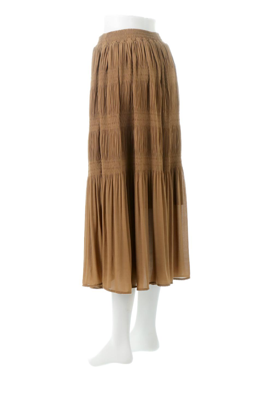 MajolicaPleatedLongSkirtマジョリカプリーツ・ロングスカート大人カジュアルに最適な海外ファッションのothers(その他インポートアイテム)のボトムやスカート。表情豊かなマジョリカプリーツが春の雰囲気満点のロングスカート。シフォンジョーゼットのソフトな生地でフワリとした優しさが人気です。/main-18