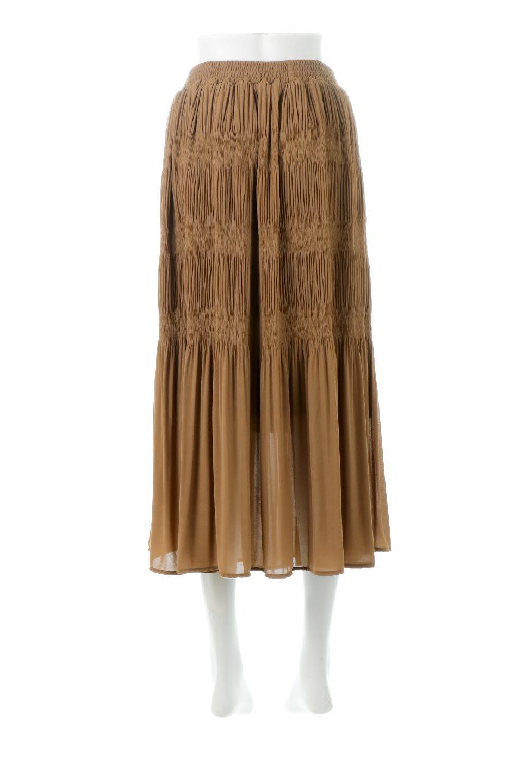 MajolicaPleatedLongSkirtマジョリカプリーツ・ロングスカート大人カジュアルに最適な海外ファッションのothers(その他インポートアイテム)のボトムやスカート。表情豊かなマジョリカプリーツが春の雰囲気満点のロングスカート。シフォンジョーゼットのソフトな生地でフワリとした優しさが人気です。/main-19