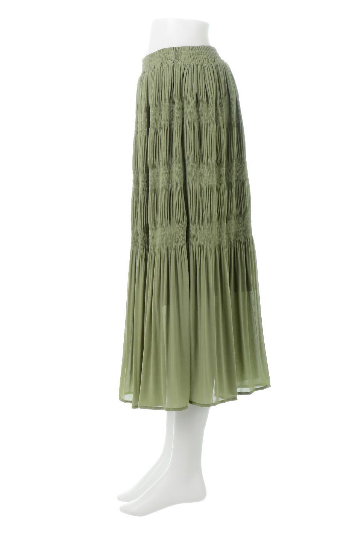MajolicaPleatedLongSkirtマジョリカプリーツ・ロングスカート大人カジュアルに最適な海外ファッションのothers(その他インポートアイテム)のボトムやスカート。表情豊かなマジョリカプリーツが春の雰囲気満点のロングスカート。シフォンジョーゼットのソフトな生地でフワリとした優しさが人気です。/main-2