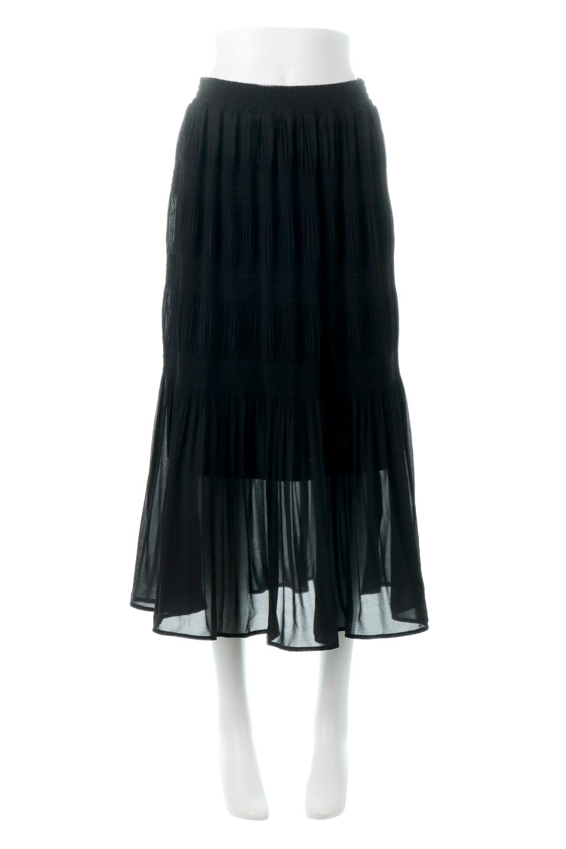 MajolicaPleatedLongSkirtマジョリカプリーツ・ロングスカート大人カジュアルに最適な海外ファッションのothers(その他インポートアイテム)のボトムやスカート。表情豊かなマジョリカプリーツが春の雰囲気満点のロングスカート。シフォンジョーゼットのソフトな生地でフワリとした優しさが人気です。/main-20