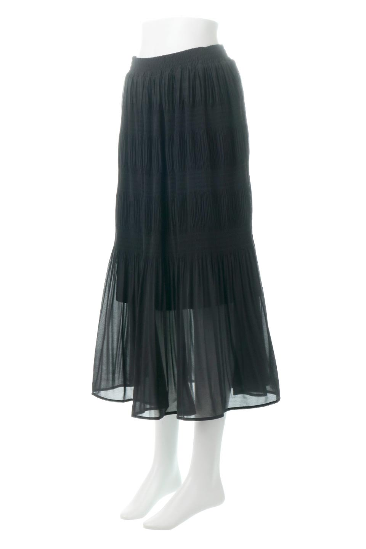 MajolicaPleatedLongSkirtマジョリカプリーツ・ロングスカート大人カジュアルに最適な海外ファッションのothers(その他インポートアイテム)のボトムやスカート。表情豊かなマジョリカプリーツが春の雰囲気満点のロングスカート。シフォンジョーゼットのソフトな生地でフワリとした優しさが人気です。/main-21