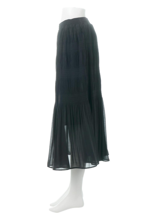 MajolicaPleatedLongSkirtマジョリカプリーツ・ロングスカート大人カジュアルに最適な海外ファッションのothers(その他インポートアイテム)のボトムやスカート。表情豊かなマジョリカプリーツが春の雰囲気満点のロングスカート。シフォンジョーゼットのソフトな生地でフワリとした優しさが人気です。/main-22