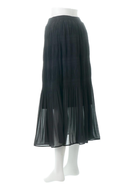 MajolicaPleatedLongSkirtマジョリカプリーツ・ロングスカート大人カジュアルに最適な海外ファッションのothers(その他インポートアイテム)のボトムやスカート。表情豊かなマジョリカプリーツが春の雰囲気満点のロングスカート。シフォンジョーゼットのソフトな生地でフワリとした優しさが人気です。/main-23