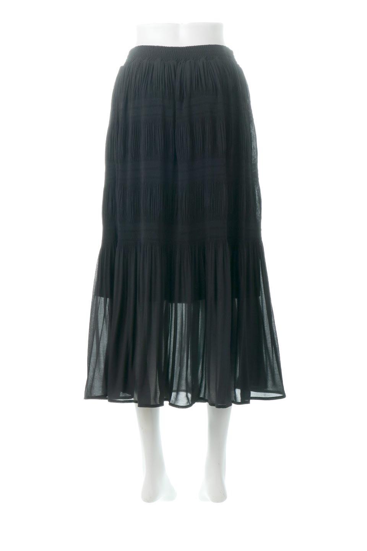 MajolicaPleatedLongSkirtマジョリカプリーツ・ロングスカート大人カジュアルに最適な海外ファッションのothers(その他インポートアイテム)のボトムやスカート。表情豊かなマジョリカプリーツが春の雰囲気満点のロングスカート。シフォンジョーゼットのソフトな生地でフワリとした優しさが人気です。/main-24