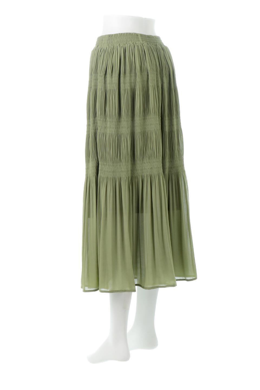 MajolicaPleatedLongSkirtマジョリカプリーツ・ロングスカート大人カジュアルに最適な海外ファッションのothers(その他インポートアイテム)のボトムやスカート。表情豊かなマジョリカプリーツが春の雰囲気満点のロングスカート。シフォンジョーゼットのソフトな生地でフワリとした優しさが人気です。/main-3