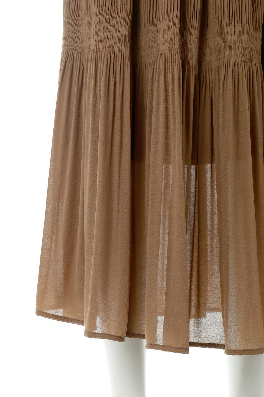 MajolicaPleatedLongSkirtマジョリカプリーツ・ロングスカート大人カジュアルに最適な海外ファッションのothers(その他インポートアイテム)のボトムやスカート。表情豊かなマジョリカプリーツが春の雰囲気満点のロングスカート。シフォンジョーゼットのソフトな生地でフワリとした優しさが人気です。/main-30