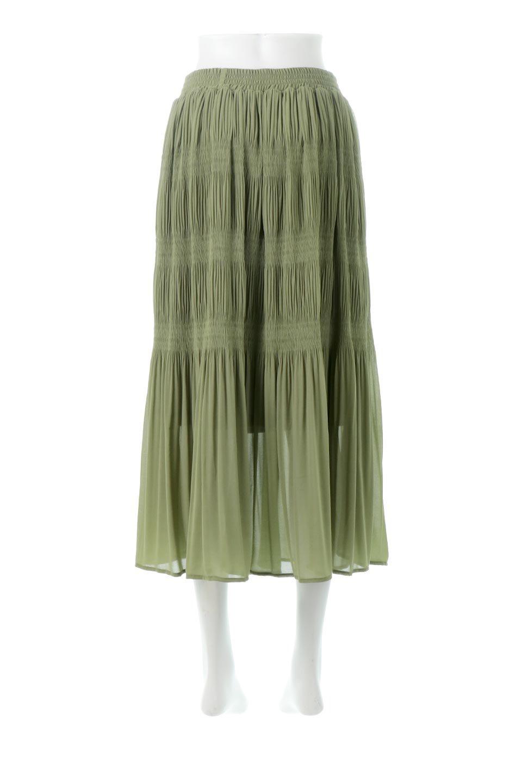 MajolicaPleatedLongSkirtマジョリカプリーツ・ロングスカート大人カジュアルに最適な海外ファッションのothers(その他インポートアイテム)のボトムやスカート。表情豊かなマジョリカプリーツが春の雰囲気満点のロングスカート。シフォンジョーゼットのソフトな生地でフワリとした優しさが人気です。/main-4