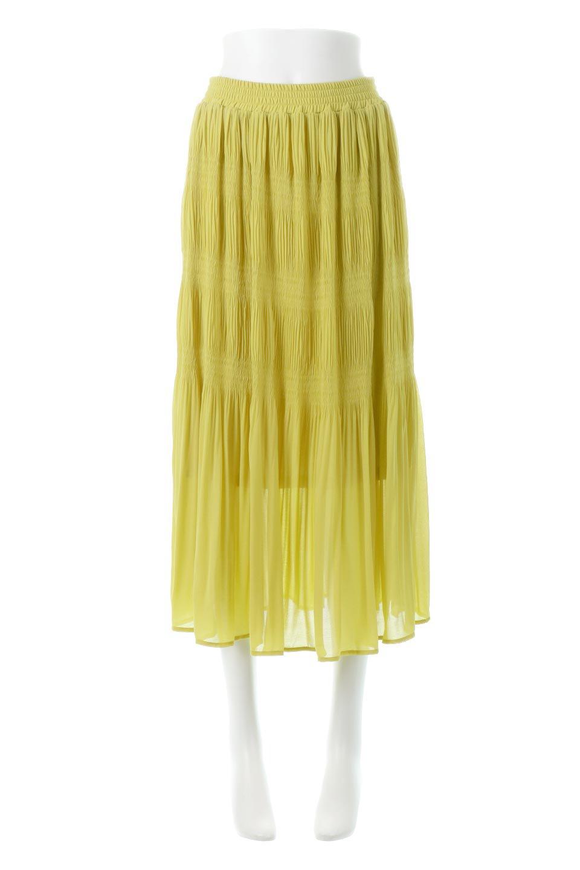 MajolicaPleatedLongSkirtマジョリカプリーツ・ロングスカート大人カジュアルに最適な海外ファッションのothers(その他インポートアイテム)のボトムやスカート。表情豊かなマジョリカプリーツが春の雰囲気満点のロングスカート。シフォンジョーゼットのソフトな生地でフワリとした優しさが人気です。/main-5
