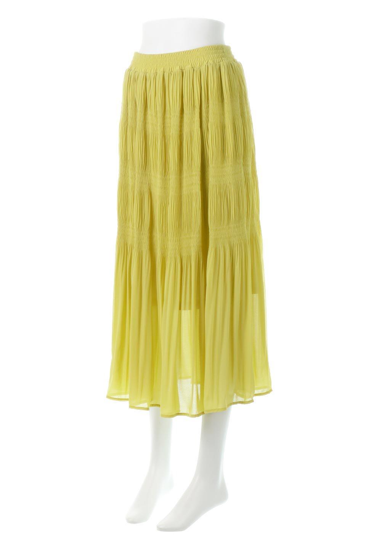MajolicaPleatedLongSkirtマジョリカプリーツ・ロングスカート大人カジュアルに最適な海外ファッションのothers(その他インポートアイテム)のボトムやスカート。表情豊かなマジョリカプリーツが春の雰囲気満点のロングスカート。シフォンジョーゼットのソフトな生地でフワリとした優しさが人気です。/main-6
