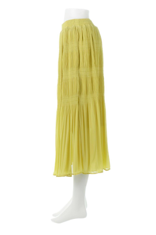MajolicaPleatedLongSkirtマジョリカプリーツ・ロングスカート大人カジュアルに最適な海外ファッションのothers(その他インポートアイテム)のボトムやスカート。表情豊かなマジョリカプリーツが春の雰囲気満点のロングスカート。シフォンジョーゼットのソフトな生地でフワリとした優しさが人気です。/main-7