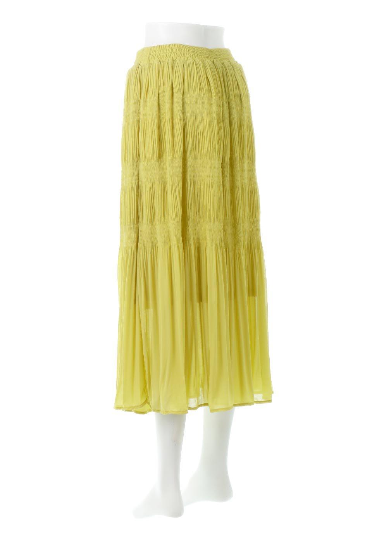 MajolicaPleatedLongSkirtマジョリカプリーツ・ロングスカート大人カジュアルに最適な海外ファッションのothers(その他インポートアイテム)のボトムやスカート。表情豊かなマジョリカプリーツが春の雰囲気満点のロングスカート。シフォンジョーゼットのソフトな生地でフワリとした優しさが人気です。/main-8