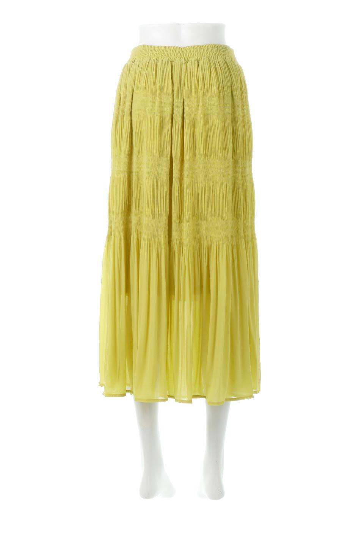 MajolicaPleatedLongSkirtマジョリカプリーツ・ロングスカート大人カジュアルに最適な海外ファッションのothers(その他インポートアイテム)のボトムやスカート。表情豊かなマジョリカプリーツが春の雰囲気満点のロングスカート。シフォンジョーゼットのソフトな生地でフワリとした優しさが人気です。/main-9