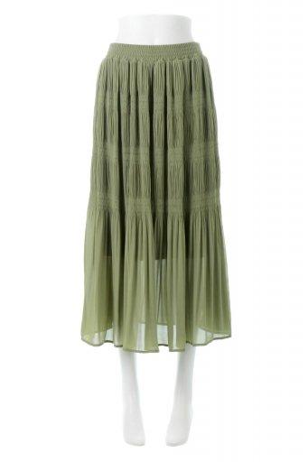 Majolica Pleated Long Skirt マジョリカプリーツ・ロングスカート / 大人カジュアルに最適な海外ファッションが得意な福島市のセレクトショップbloom