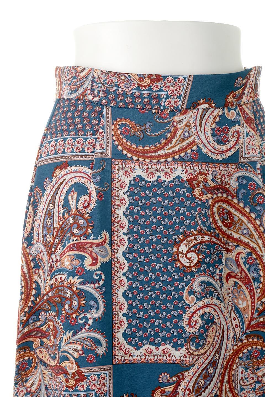 PaisleyPatternedPencilSkirtペイズリー柄・Iラインスカート大人カジュアルに最適な海外ファッションのothers(その他インポートアイテム)のボトムやスカート。ペイズリーの総柄プリントが可愛いIラインのペンシルスカート。テロテロ感が人気の差展示を使用し、カジュアルにも上品にもコーデできる便利スカートです。/main-12