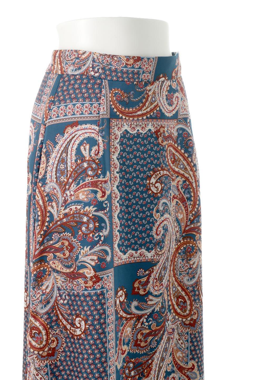 PaisleyPatternedPencilSkirtペイズリー柄・Iラインスカート大人カジュアルに最適な海外ファッションのothers(その他インポートアイテム)のボトムやスカート。ペイズリーの総柄プリントが可愛いIラインのペンシルスカート。テロテロ感が人気の差展示を使用し、カジュアルにも上品にもコーデできる便利スカートです。/main-13