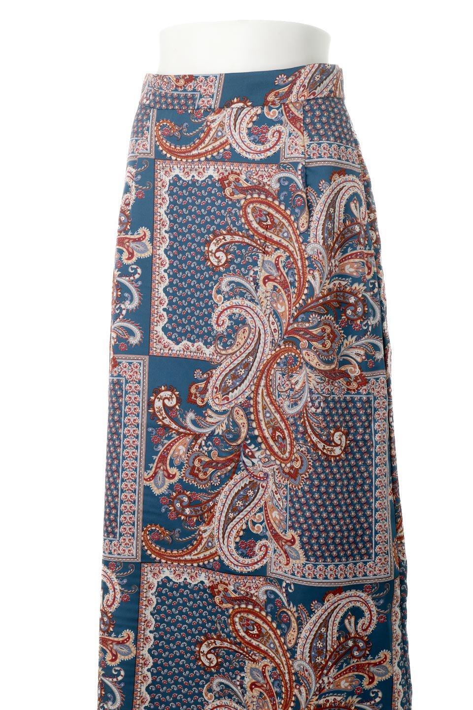 PaisleyPatternedPencilSkirtペイズリー柄・Iラインスカート大人カジュアルに最適な海外ファッションのothers(その他インポートアイテム)のボトムやスカート。ペイズリーの総柄プリントが可愛いIラインのペンシルスカート。テロテロ感が人気の差展示を使用し、カジュアルにも上品にもコーデできる便利スカートです。/main-14
