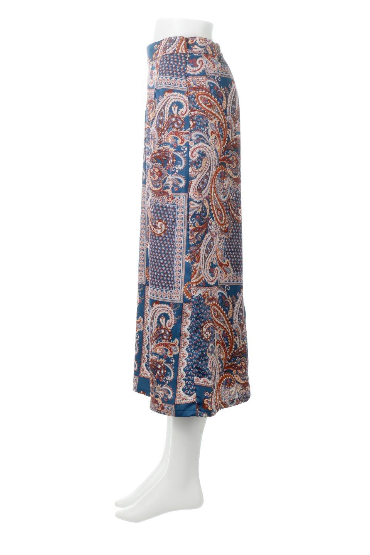 PaisleyPatternedPencilSkirtペイズリー柄・Iラインスカート大人カジュアルに最適な海外ファッションのothers(その他インポートアイテム)のボトムやスカート。ペイズリーの総柄プリントが可愛いIラインのペンシルスカート。テロテロ感が人気の差展示を使用し、カジュアルにも上品にもコーデできる便利スカートです。/main-2